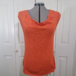 BANANA REPUBLIC Orange Sleeveless Blouse Size M